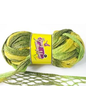 Charmkey Golden Metallic Fishnet Yarn